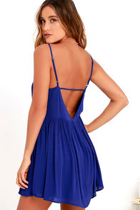 image Dream State Royal Blue Babydoll Dress