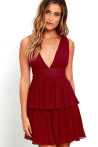 image Deserved Adoration Wine Red Dress
