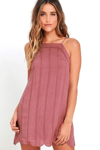 image Country Road Mauve Embroidered Dress