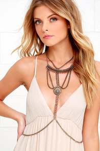Desert Relic Gold Body Harness at Lulus.com!