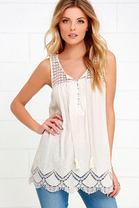 image Artisan Flair Light Beige Lace Top