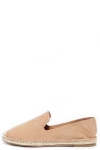 Flat-Out Adorable Nude Suede Espadrille Flats