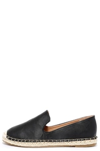 Flat-Out Adorable Black Espadrille Flats