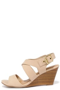 image Chic-ly Speaking Sand Wedge Sandals