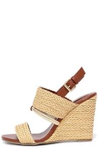 Mia Adria Natural Woven Wedge Sandals