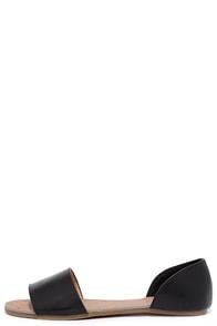 Image Atlantic Seaboard Black Peep Toe Flats