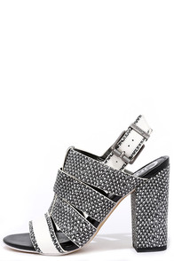 Circus by Sam Edelman Natalie Black and White High Heel Sandals