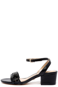 image Nina Originals Visa Black Leather Heeled Sandals