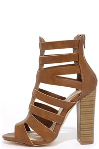 Here for the Party Tan Caged Heels
