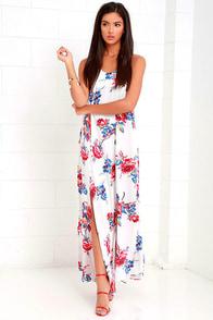 image Somedays Lovin' True Romance Ivory Floral Print Maxi Dress