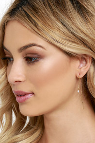 image Sunup Gold and Pearl Threader Earrings