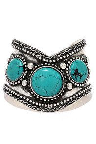 El Rancho Silver and Turquoise Cuff Bracelet