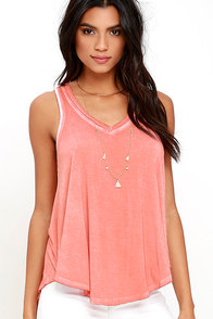 image Vagabond Washed Coral Sleeveless Top