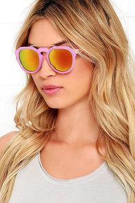 Crypton Pink and Orange Mirrored Sunglasses