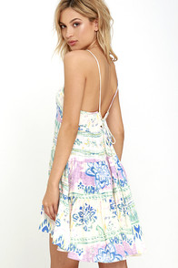 image O'Neill Yana Cream Floral Print Dress