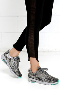 Into Outerspace Grey Python Print Sneakers at Lulus.com!