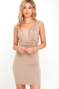 image Right of Way Convertible Beige Dress