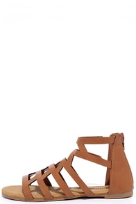 image Cabana Cutie Tan Gladiator Sandals