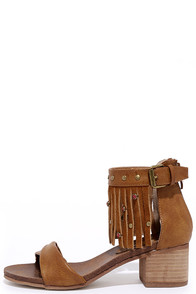 image Rebels Lilith Brown Leather Fringe Sandals
