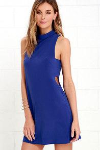 image Make Your Mock Royal Blue Dress