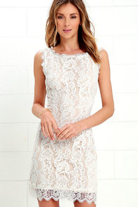 image Flair for Fancy Ivory Lace Dress