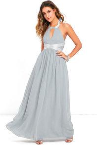 image Days Gown By Grey Beaded Maxi Dress