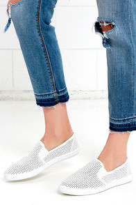 Saturday Morning Cartoons White Slip-On Sneakers at Lulus.com!