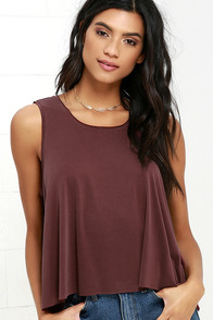 image Grand Slam Washed Burgundy Tank Top