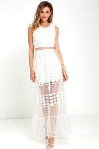 New Love Ivory Lace Maxi Dress at Lulus.com!