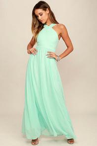 image Air of Romance Mint Maxi Dress