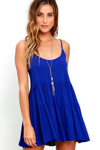 image Best Laced Plans Royal Blue Babydoll Dress