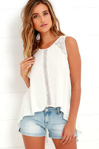 Anything is Possible Ivory Lace Top at Lulus.com!