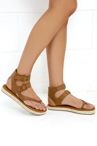 Billabong Gone Beach Trippin Brown Thong Sandals at Lulus.com!