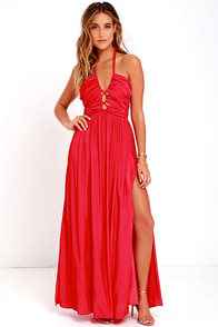 Maximum Magnificence Red Maxi Dress