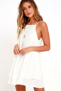 Sights and Sounds Ivory Swing Dress