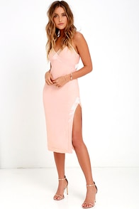 Bless'ed Are the Meek Coordinates Peach Midi Dress at Lulus.com!
