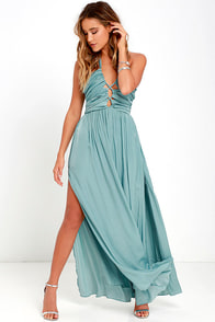image Maximum Magnificence Turquoise Blue Maxi Dress
