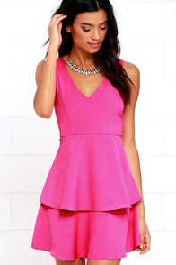 Sweet Deal Fuchsia Skater Dress