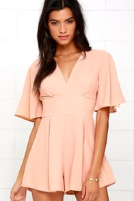 image Choir of Chirping Peach Romper
