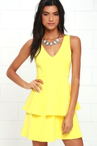 Sweet Deal Yellow Skater Dress