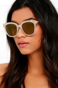 First-Rate Find Ivory Iridescent Sunglasses at Lulus.com!