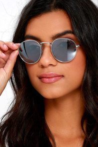 image Chic Seeker Silver and Blue Sunglasses