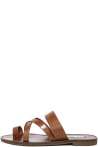 Steve Madden Ambler Tan Leather Thong Slide Sandals