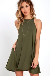 Tupelo Honey Olive Green Dress