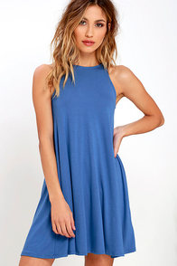 Tupelo Honey Blue Dress