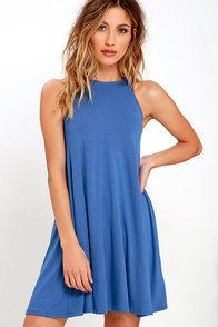 Tupelo Honey Blue Dress
