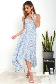 image Lucy Love Dragonfly Blue Print Midi Dress
