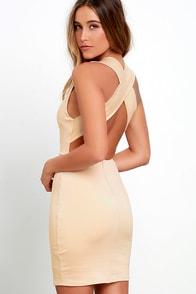 image Will Always Love You Beige Bodycon Dress
