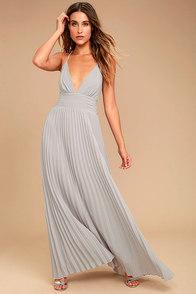 image Depths of My Love Grey Maxi Dress