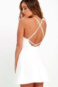 Soft Strumming Ivory A-Line Dress at Lulus.com!